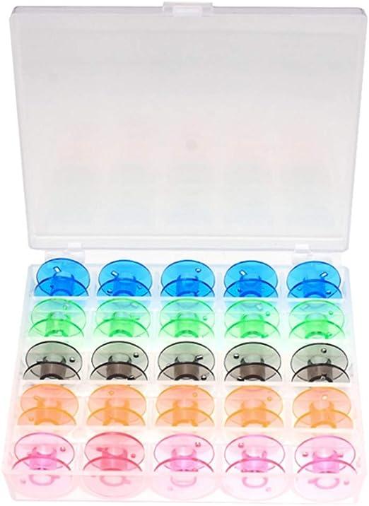 Xincsiwang(25Pcs) Color Canilla Set Para Hogar Eléctrica Máquina de Coser - B: Amazon.es: Hogar