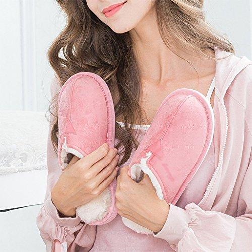 Señoras Interiores Pink Algodón Invierno Antideslizantes de DWW Zapatillas Interiores Zapatos de Caliente P6BqtcwIx