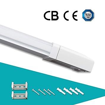 J&C® IP65 18W 60cm Regleta fluorescentes estanca de luz compacta LED lámpara perfil bajo 1500Lm