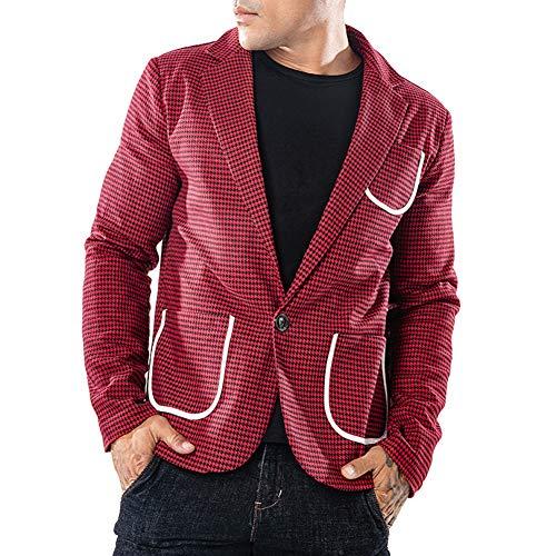 Uomo Jacket Cappotto Outerwear Gladiolusa Casual Slim Blazers Fit Giacca Rosso Elegante FwgSCxgq