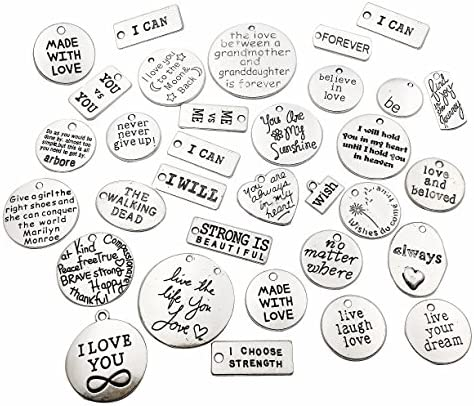30pcs,Antique Silver Word Charm,Silver Inspire Pendant,Wholesale Connector Charms,Metal charm,Jewelry Charms,Craft Supplies,21mmx8mm