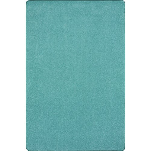 """Joy Carpets Kid Essentials Just Kidding Misc Solid Color Area Rugs, 72"""" by 108"""", Seafoam from Joy Carpets"""