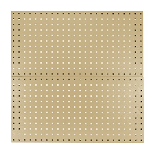 Kennedy Manufacturing 50002TX 2-Panel Metal Tool Board Set As Garage Wall Pegboard And Storage Organizer, Tan Texture by Kennedy Manufacturing