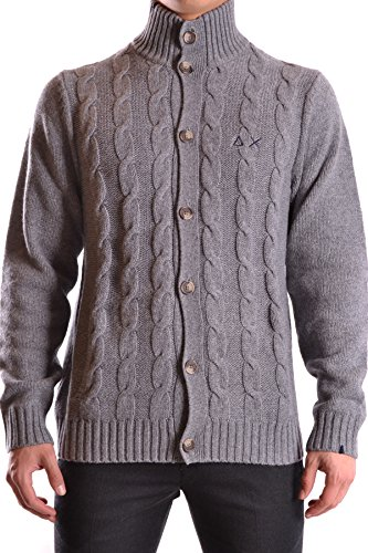Sun 68 Herren MCBI286060O Grau Wolle Strickjacke