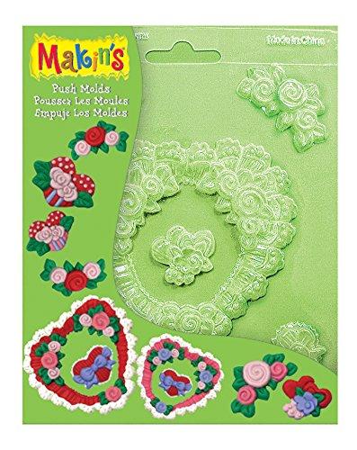 Makin's Push Clay Molds, Hearts ()