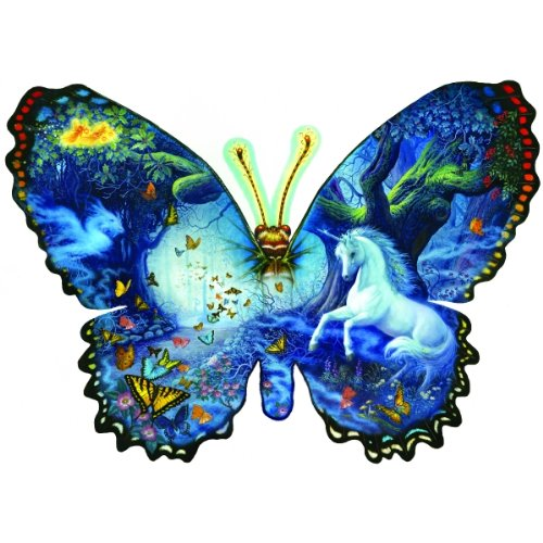 Sunsout Fantasy Butterfly Shaped SOI95330, Size: 1000pc, 25x35 Inches 1000pc Sunsout Jigsaw Puzzle