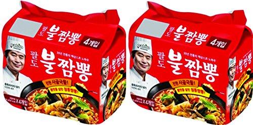 Paldo Bul Jjamppong, Spicy Seafood Flavor Noodle Soup, Pack of 8