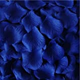 200 Top Quality Royal Blue Silk Rose Petals - Wedding Table Confetti Decorations by PolysGems