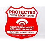 7 Home Burglar Alarm Security System Static Cling Stickers