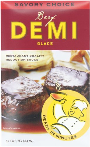 Savory Choice Beef Demi Glace, 2.6 Ounce Packages (Pack of 6)
