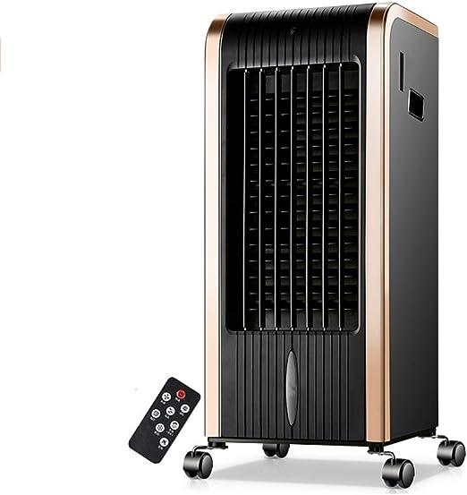 DGLIYJ 80W Climatizador Evaporativo Control Remoto Sincronización Tanque De Agua De 5 L Aire Acondicionado Ventilador De Aire Acondicionado Casa Oficina (Color : Gold): Amazon.es: Hogar