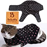 Pet Adjustable Anti-Anxiety Wrap & Calming Coat for Small Dogs & Cats Stress Fear Relief Training Winter Wear (Black, XX-Small)