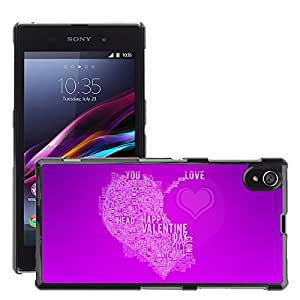 Hot Style Cell Phone PC Hard Case Cover // M00044764 magenta home feels artistic violet // Sony Xperia Z1 L39