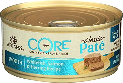 Wellness, Cat Food Can Salmon Whitefish Herring, 5.5 Ounce