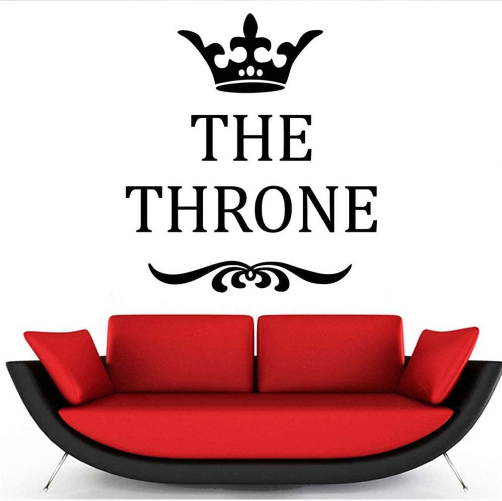 The Throne Toilet Seat Cover Wall/ Decals,Vinyl/ Removable/ PVC/ Stickers/ Decor for/ Home/ Bedroom/ Living/ Room Decoration 6.3/×7.1 in