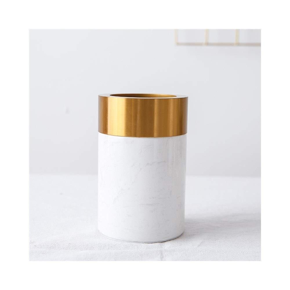 大理石の白い花瓶北欧モダンミニマリストホテルの装飾フラワーアレンジメントテーブルの装飾 (Size : 10cm*15cm) B07SPGJ4QT  10cm*15cm