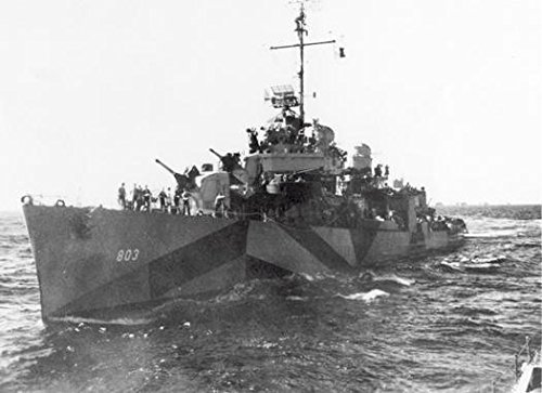 Template:USS Little (DD-803) underway, circa 1945. The ship is painted in Camouflage Measure 31, (Circa Camo)
