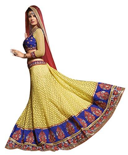 Vibes Women's Fashionable Net Un-Stitched Party Wear Lehenga Choli Free Size …