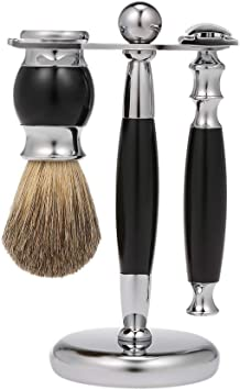 Anself Set de Afeitado de lujo para Hombres, Cepillo de Afeitar de ...