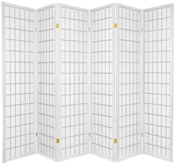 tokyo japanese handmade room divider privacy screen white 6 rh amazon co uk Room Dividers Walmart Room Dividers for the Home