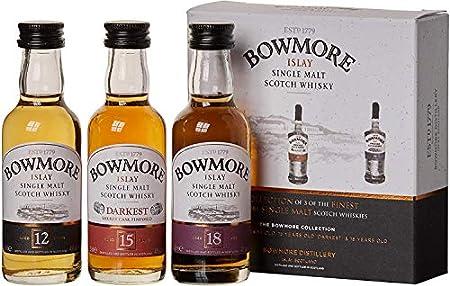 bowmore 12, 15, 18años Whisky Juego de miniaturas (3x 0.05L)