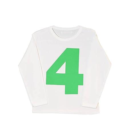 I Am 4, Verde cumpleaños Kids Top, T-Shirt | Cool bebé ...