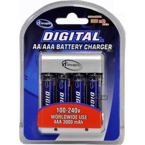 (Sakar Digital Concepts Overnight Charger With 4 AA NIMH Batteries - Sakar MO1870 )