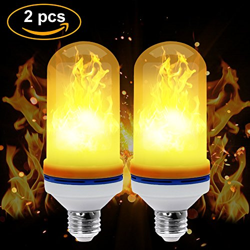CPPSLEE LED Flame Effect Light Bulb - E26 Standard Base -Christmas Decoration Simulation Fire Flickering 105pcs 2835 LED Beads - Flame Light for Hotel/ Bars/ Home Decoration (2 - Real Decorations Living Christmas