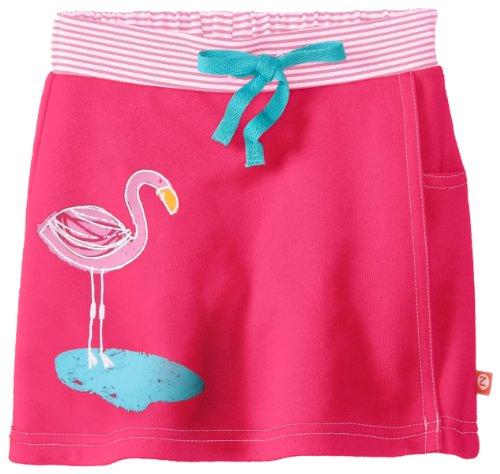 (Zutano Baby Girls' Flamingos Screen French Terry Skort, Fuchsia, 12 Months)