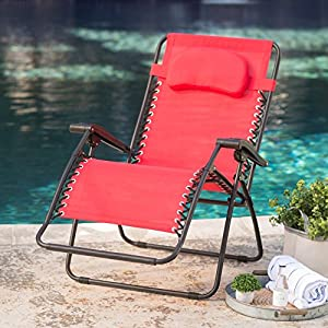 Caravan Canopy Sports Oversized Zero Gravity Chair - Red