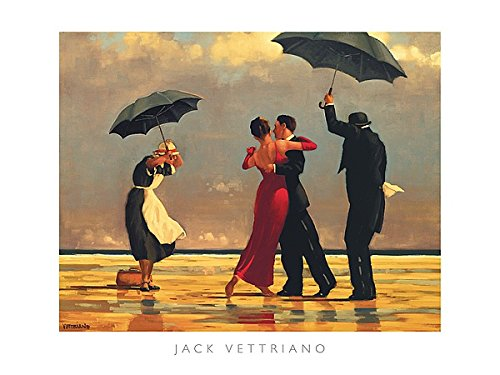 - (31.5x23.5) Jack Vettriano (The Singing Butler) Art Poster Print