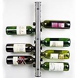 Home Kitchen Bar Stainless Steel Wine Rack Wine Wall Mounted Holder 12 Bottles