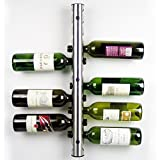 Cheap Home Kitchen Bar Stainless Steel Wine Rack Wine Wall Mounted Holder 12 Bottles