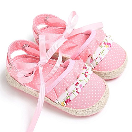 IGEMY Baby Krippen Schuhe, Prinzessin Flower Soft Sole Shoes Rosa