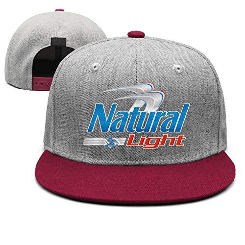 uter ewjrt Adjustable Natural-Light-Beer-Logo- Snapback Hat Unisex Fashion Cap