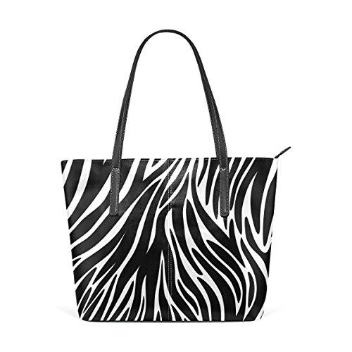 COOSUN Zebra Texturen PU Leder Schultertasche Handtasche und Handtaschen Tasche für Frauen