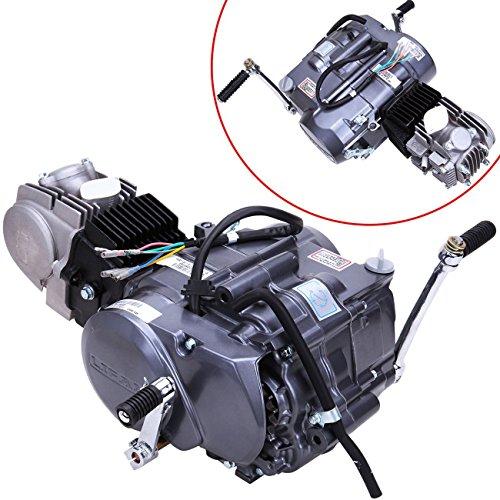 Ambienceo Complete Engine 125cc Long Case 4 Stroke 1P52FMI-K (124cm3) Dirt Bike Engine Motor Carb Complete Kit for Honda XR50 CRF50 XR CRF 50 70