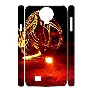 3D Zachcolo Fire & Flame Samsung Galaxy S4 Case Fire 14, Fire & Flame, {White}