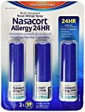 Nasacort Allergy Relief Spray 24-HR Relief Triamcinolone Acetonide 1Pack (16.9ml x 3) Phytonutrients from