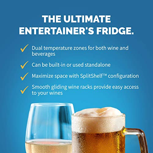 NewAir AWB-400DB Dual Zone Beverage Cooler Built-In Stainless Steel Refrigerator for Soda Beer or Wine Holds 22 Bottles and 70 Cans by NewAir (Image #2)