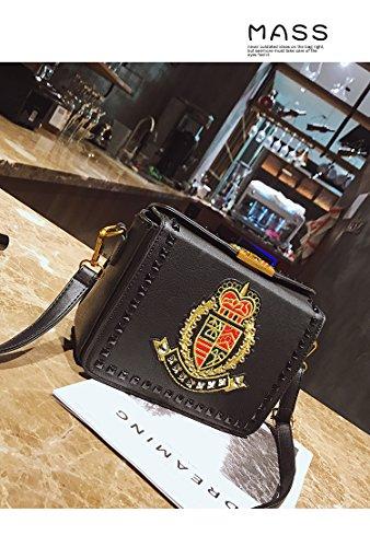 bandoulière petit Black Sac à pour à femme Vintage à sac pour femme brodé bandoulière bandoulière bandoulière pour personnalisé Sac Sac à 8q8vzS