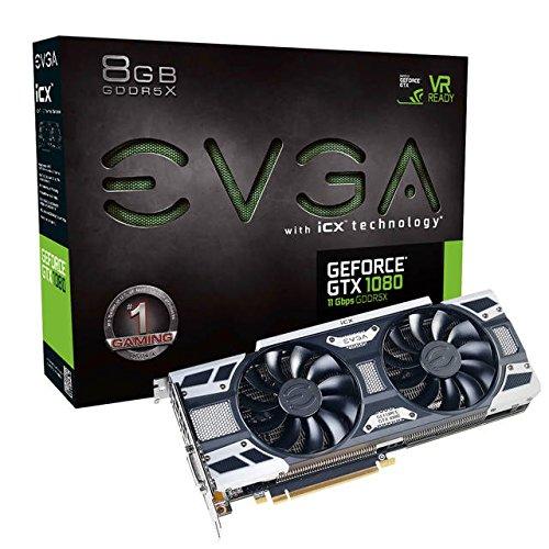 EVGA NVIDIA GeForce GTX 1080 GAMING 8GB GDDR5X DVI/HDMI/3DisplayPort PCI-Express Video Card w/ iCX - 9 Thermal Sensors & LED G/P/M by EVGA (Image #1)