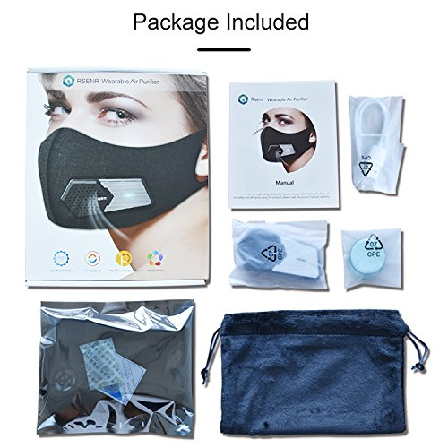 N95 Automatic Respirator Mask,Air Purifying Mask,Anti Pollution Mask For Pollen Allergy, Dust PM2.5, Running, Cycling and Outdoor Activities by Rsenr (Image #6)