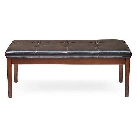 @Home by Nilkamal Jenn Three Seater Dining Bench (Beige and Walnut)