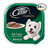 Cesar CANINE CUISINE Wet Dog Food with Turkey, (Pack of 24) 3.5 oz. Trays