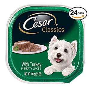 Cesar Canine Cuisine Wet Dog Food With Turkey, (Pack Of 24) 3.5 Oz. Trays 106