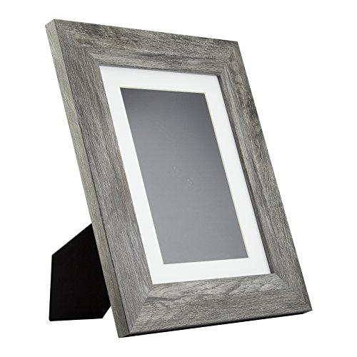 Bauhaus Table-top 8.5x11 Modern Gray Barnwood Standing Pictu