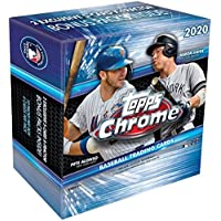 2020 Topps Chrome MLB Baseball MEGA box (40 cards PLUS 10 exclusive X-Fractor parallel cards)