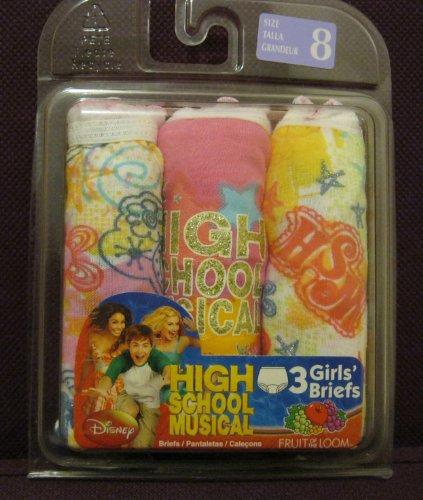 FRUIT OF THE LOOM Girls Briefs HIGH SCHOOL MUSICAL 3 Pack