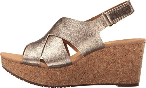 c66fe51310e Clarks Women s Annadel Fareda Gold Metallic Shoe - Import It All
